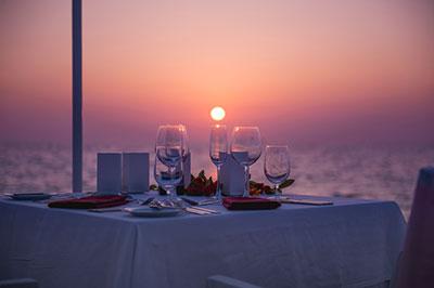 Dinner am Meer
